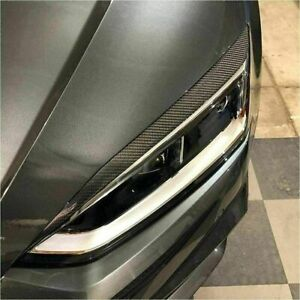 Carbon Fiber Headlight Eyebrows Eyelids Covers for Audi A5 B9 /A5 Sline/ S5 RS5