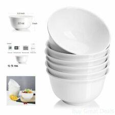 22oz Cereal Bowls Porcelain Cereal/Soup Bowl Set Packs White Deep