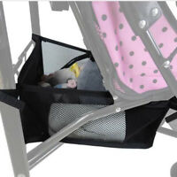 Baby Carriage Basket Infant Stroller Pram Bottom Basket Portable Organizer  FT