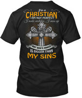 Sensational Im A Christian - I'm I Am Not Perfect Make Hanes Tagless Tee T-Shirt