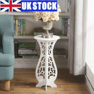 UK White Round Coffee Tea Side End Tables Rack Stand Modern Furniture Room Decor