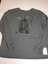 Disney Store Star Wars R2-D2 Astromech Droid Gray Long Sleeve Shirt NEW Size 2XL