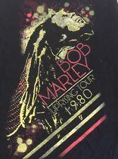 Bob Marley T Shirt Women's Large Black New Uprising Tour 1980