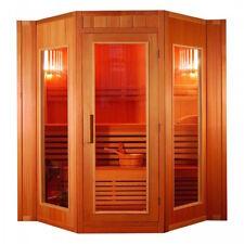 XXL Luxus Finnische Sauna SET Sauna inkl. Harvia Saunaofen Modell 2021  4 Pers.
