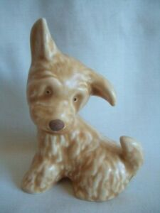Sylvac Scottish Terrier Dog. Seated Terrier. Sitting Dog Figure.