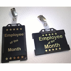 Employee of the Month Card | PVC Card with Holder and Clip | Free P&P
