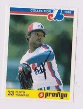 1986 Provigo Floyd Youmans Montreal Expos Autographed Baseball Card