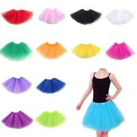 Fashion Adult Women Tulle Fancy Ballet Dress Petticoat Dance Tutu Skirts 3 Layer