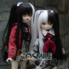 Black White Bunches Monokuma Cosplay Hair Wig For 1/3 1/4 1/6 BJD Doll Limit Sa