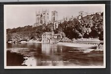 View From The River Wear 1940's ? Raphael Tuck RP Postcard ~ Durham Cathedral