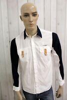 ALVIERO MARTINI Camicia PRIMA CLASSE Uomo Shirt Cotone Casual Chemise Taglia L