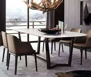Zilan Stainless  Steel Dinning Table W/ White Marble Top(Pick up only, Plz)