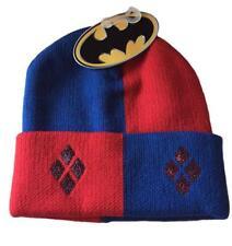 Harley Quinn Sequin Card Design Cuff Knit Beanie Winter Hat NWT DC Comics
