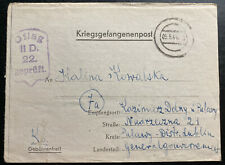 1944 Germany Oflag 2D POW Prisoner of War Letter Cover To Pulawy Poland