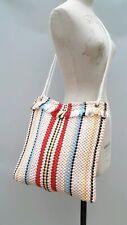 Stripe Beach Bag Shopper Tote Shoulder Crossbody Multicoloured Japan Nylon