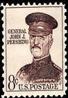 US Postage PHOTO MAGNET Reproduction John J Pershing WW1 General 1961  8 cents