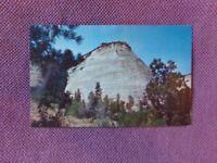 Vintage Postcard NATIONAL PARKS - ZION / Checkerboard Mesa near East Entrance