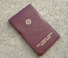 Vtg SHELL Gas Oil Chemical Advertising Leather Pocket Notepad UNUSED Petroleum