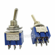 100 pcs 6 Pin DPDT ON-OFF-ON 3 Position 6A 250VAC Mini Toggle Switches MTS-203