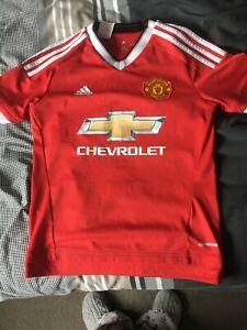 Man United Red Football Shirt Age 11-12