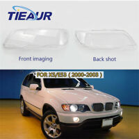 One Pair Headlight Clear Headlight Lens Plastic Cover For BMW X5 E53 (00-03)
