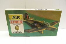 AIR LINES 1/72 SCALE #4905 PERCIVAL PROCTOR TRAINER AIRPLANE MODEL KIT SH1D-#2