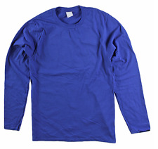 Men's Big & Tall Unbranded Cotton  Long Sleeve Crew Neck Tee Shirt 5X Dark Royal