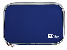 """Soft Blue Neoprene Dual Zip Case/Cover for Wacom Intuos Art Pen and Touch 10"""""""