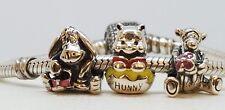 Set of 3 New Authentic Disney Pandora Charms Winnie the Pooh,Tigger,Eeyore