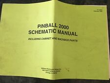 Arcade Game, Arcade Logic, Pinball, Williams Pinball 2000 Schematic Manual