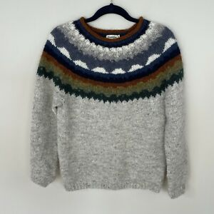 Icelandica 100% Wool Icelandic Design Sweater Rolled Neck Fisherman Sweater M