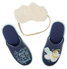NEW Womens Dearfoams Indoor/Outdoor Slippers Mask Set Size Small 5-6 OR XL 11-12