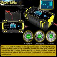12/24V 8A 4A 6-150Ah Chargeur de Batterie 6A/12v Voiture Moto Indicateur EU plug