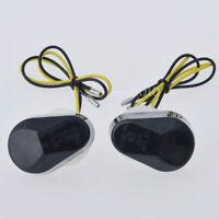 Smoke Flush Mount LED Turn Signal Light Indicators Blinker For Suzuki Motorcycle