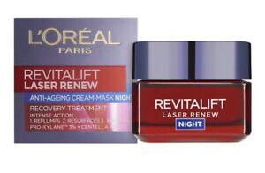 L'Oréal Paris Revitalift Laser Renew Anti Ageing Night Cream 50ml - New & Sealed