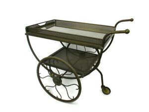 Swedish Mid Century Modern Brass Bar Trolley Cart Josef Frank Svenskt Tenn