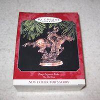 Christmas Tree Decoration Keepsake Ornament Pony Express Rider Hallmark 1998