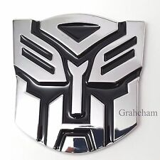 TRANSFORMERS METAL CAR BADGE AUTOBOT 3D CHROME STICKER EMBLEM DECAL LOGO