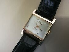 Montre Lip Electronic Or 18 carat 1962  bracelet crocodile Excellent état