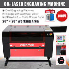 Omtech 100w 28x20 Co2 Laser Engraver Cutter Marker With Cw 5202 Water Chiller