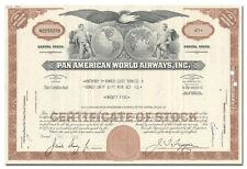 Pan American World Airways, Inc. Stock Certificate