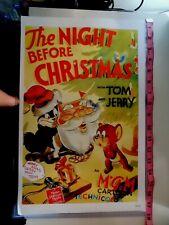 Tom & Jerry HANNA BARBERA The Night Before Christmas Poster B28
