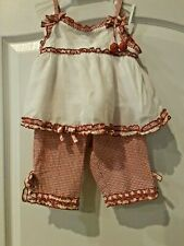 Kate Mack 2T Baby Girls Summer Outfit Pants Top EUC