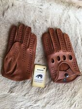 Peccary Men's driving leather gloves Brown Cork Black Cognac Tan