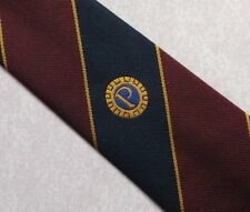 PROBUS INFORMATION TIE VINTAGE RETRO CLUB ASSOCIATION NAVY BURGUNDY 1990s