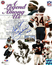 "WALTER PAYTON AUTOGRAPHED 8X10 PHOTO BEARS ""SWEETNESS 16,726"" PSA/DNA 22530"