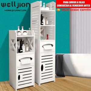 Armario para baño En pie Mueble Columna de baño Entrada 1 Puertas y 4 Suelo