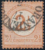 DR 1874, MiNr. 29, gestempelt, Mi. 65,-