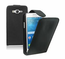 BLACK Leather Case Cover Pouch For Samsung Galaxy Grand Prime SM-G530Y SM-G530BT