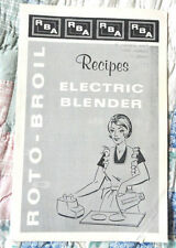 Vintage Pamphlet for Roto-Broil Electric Blender Recipes and Care